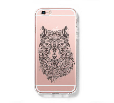 Tibal Wolf iPhone 6s 6 Clear Case iPhone 6 plus Cover iPhone 5s 5 5c Transparent Case Galaxy S6 Edge S6 S5 Case - Acyc - 1