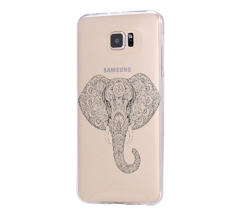 Ethnic Elephant Samsung Galaxy S6 Edge Clear Case Galaxy S6 Transparnet Case S5 Hard Case iPhone Crystal  Case - Acyc - 1
