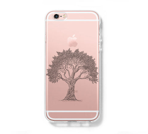 Tree iPhone 6s 6 Clear Case iPhone 6 plus Cover iPhone 5s 5 5c Transparent Case Galaxy S6 Edge S6 S5 Case - Acyc - 1