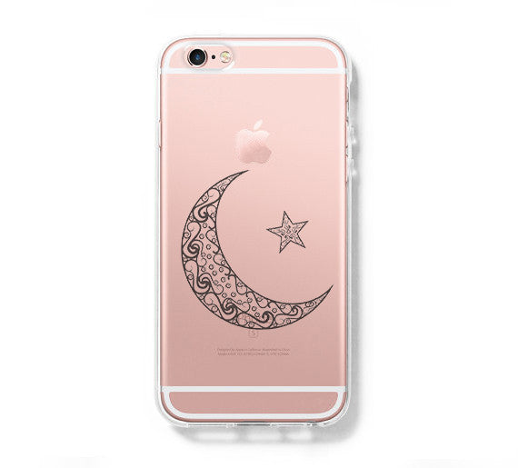 reputable site af68f a76a8 Tribal Moon Star iPhone 6s 6 Clear Case iPhone 6 plus Cover iPhone 5s 5 5c  Transparent Case Galaxy S6 Edge S6 S5 Case