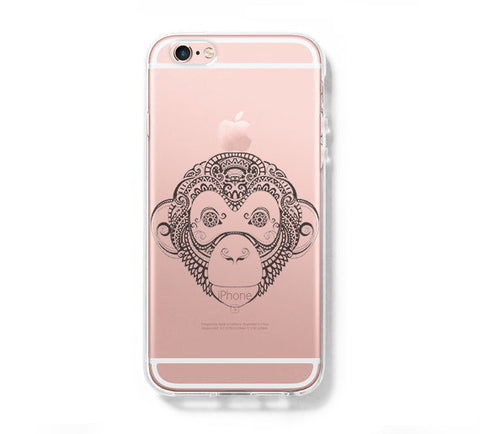 Big Monkey iPhone 6s 6 Clear Case iPhone 6 plus Cover iPhone 5s 5 5c Transparent Case Galaxy S6 Edge S6 S5 Case - Acyc - 1