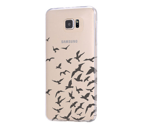 Flying Wild Goose Bird Samsung Galaxy S6 Edge Clear Case Galaxy S6 Transparnet Case S5 Hard Case iPhone Crystal  Case - Acyc - 1
