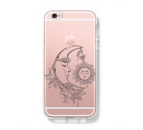 Moon Fairy Tale iPhone 6s 6 Clear Case iPhone 6 plus Cover iPhone 5s 5 5c Transparent Case Galaxy S6 Edge S6 S5 Case - Acyc - 1