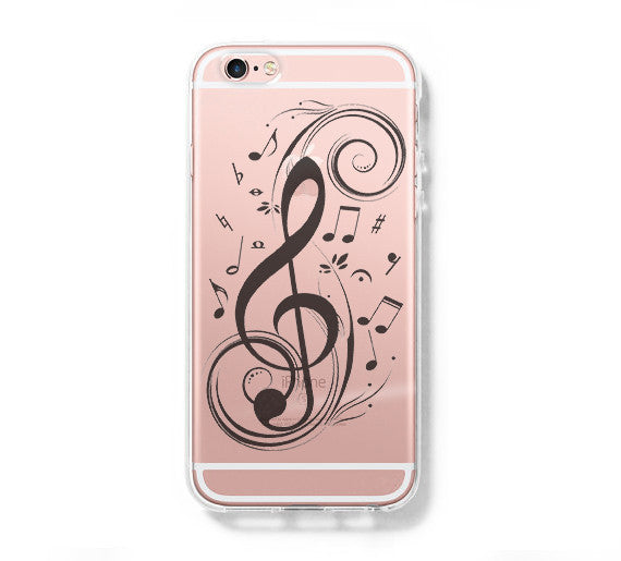 outlet store 87f41 58190 Music Symbol iPhone 6s 6 Clear Case iPhone 6 plus Cover iPhone 5s 5 5c  Transparent Case Galaxy S6 Edge S6 S5 Case