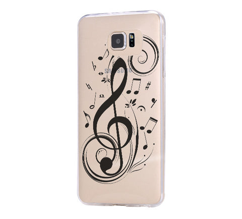 Music Symbol  Samsung Galaxy S6 Edge Clear Case Galaxy S6 Transparnet Case S5 Hard Case iPhone Crystal  Case - Acyc - 1