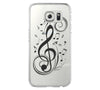 Music Symbol  Samsung Galaxy S6 Edge Clear Case Galaxy S6 Transparnet Case S5 Hard Case iPhone Crystal  Case - Acyc - 2