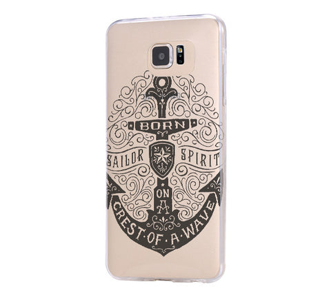 Anchor Sailor Spirit Samsung Galaxy S6 Edge Clear Case Galaxy S6 Transparnet Case S5 Hard Case iPhone Crystal  Case - Acyc - 1
