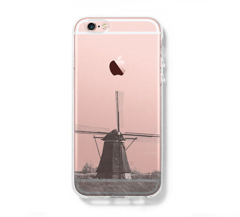 Windmill Landscape iPhone 6s 6 Clear Case iPhone 6 plus Cover iPhone 5s 5 5c Transparent Case Galaxy S6 Edge S6 S5 Case - Acyc - 1