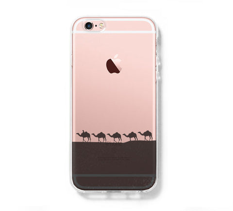 Desert Camel iPhone 6s 6 Clear Case iPhone 6 plus Cover iPhone 5s 5 5c Transparent Case Galaxy S6 Edge S6 S5 Case - Acyc - 1