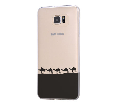 Desert camel Samsung Galaxy S6 Edge Clear Case Galaxy S6 Transparnet Case S5 Hard Case iPhone Crystal  Case - Acyc - 1