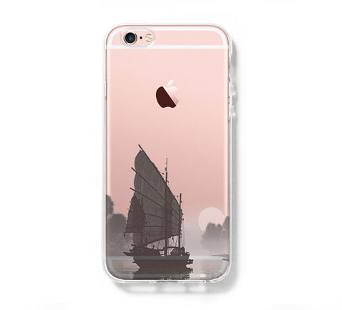 Sailing Boat in The Lake iPhone 6s 6 Clear Case iPhone 6 plus Cover iPhone 5s 5 5c Transparent Case Galaxy S6 Edge S6 S5 Case - Acyc - 1