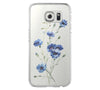 Wild Flower Blue  Samsung Galaxy S6 Edge Clear Case Galaxy S6 Transparnet Case S5 Hard Case iPhone Crystal  Case - Acyc - 2