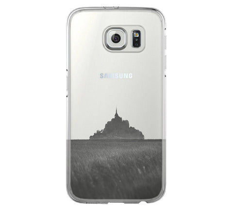 Mont Saint Michel Samsung Galaxy S6 Edge Clear Case Galaxy S6 Transparnet Case S5 Hard Case iPhone Crystal  Case - Acyc - 1