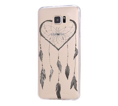 Heart Dreamcatcher Samsung Galaxy S6 Edge Clear Case Galaxy S6 Transparnet Case S5 Hard Case iPhone Crystal  Case - Acyc - 1