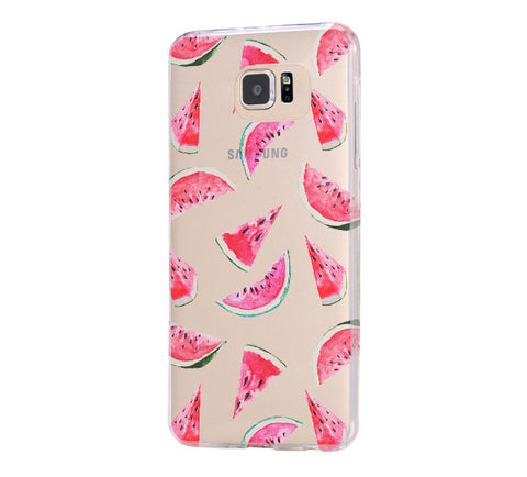 Watermelon Fruit Samsung Galaxy S6 Edge Clear Case Galaxy S6 Transparnet Case S5 Hard Case iPhone Crystal  Case - Acyc - 1