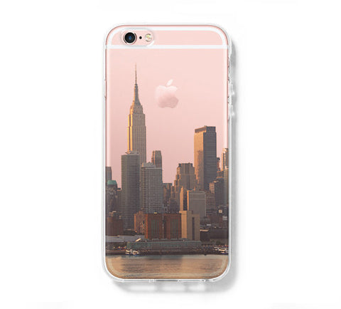 Empire Sate Building New York  iPhone 6s 6 Clear Case iPhone 6 plus Cover iPhone 5s 5 5c Transparent Case Galaxy S6 Edge S6 S5 Case - Acyc - 1