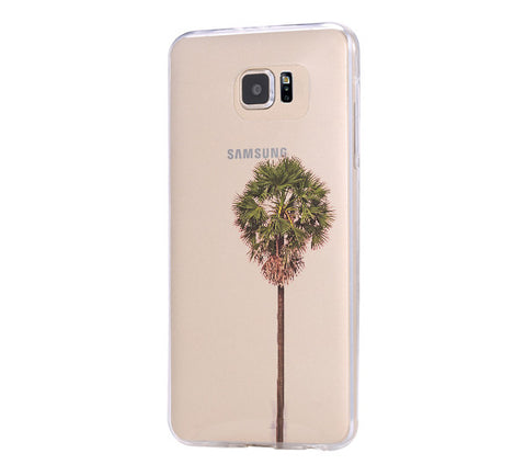 Palm Tree Color  Samsung Galaxy S6 Edge Clear Case Galaxy S6 Transparnet Case S5 Hard Case iPhone Crystal  Case - Acyc - 1