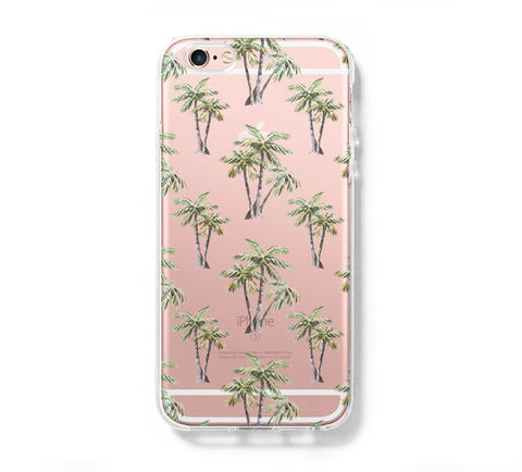 Green Palm Tree iPhone 6s 6 Clear Case iPhone 6 plus Cover iPhone 5s 5 5c Transparent Case Galaxy S6 Edge S6 S5 Case - Acyc - 1