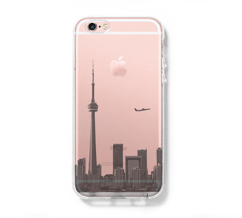 Toronto Architecture iPhone 6s 6 Clear Case iPhone 6 plus Cover iPhone 5s 5 5c Transparent Case Galaxy S6 Edge S6 S5 Case - Acyc - 1