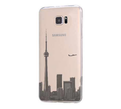 Toronto architecture Samsung Galaxy S6 Edge Clear Case Galaxy S6 Transparnet Case S5 Hard Case iPhone Crystal  Case - Acyc - 1