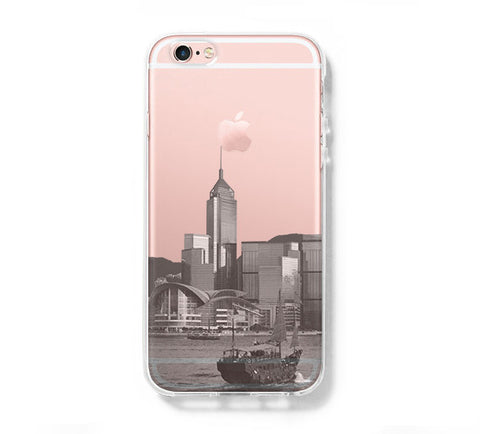 Hong Kong City iPhone 6s 6 Clear Case iPhone 6 plus Cover iPhone 5s 5 5c Transparent Case Galaxy S6 Edge S6 S5 Case - Acyc - 1