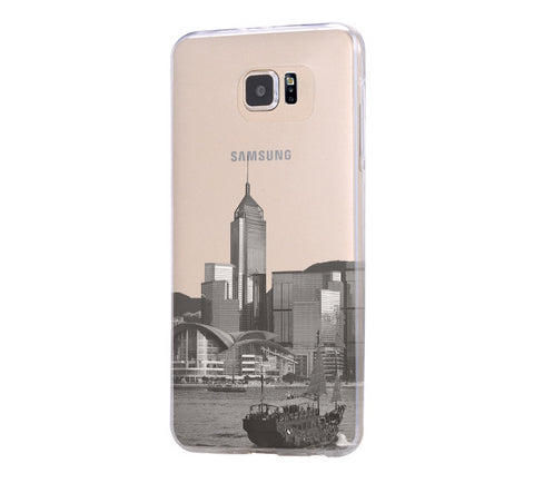 Hong Kong City Landscape Samsung Galaxy S6 Edge Clear Case Galaxy S6 Transparnet Case S5 Hard Case iPhone Crystal  Case - Acyc - 1