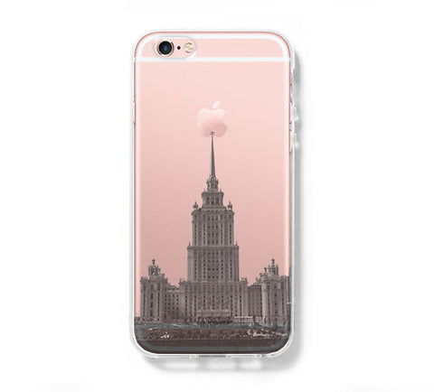 Moscow Stalin Skyscraper iPhone 6s 6 Clear Case iPhone 6 plus Cover iPhone 5s 5 5c Transparent Case Galaxy S6 Edge S6 S5 Case - Acyc - 1