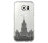 Moscow, Stalin skyscraper Samsung Galaxy S6 Edge Clear Case Galaxy S6 Transparnet Case S5 Hard Case iPhone Crystal  Case - Acyc - 2