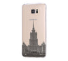 Moscow, Stalin skyscraper Samsung Galaxy S6 Edge Clear Case Galaxy S6 Transparnet Case S5 Hard Case iPhone Crystal  Case - Acyc - 1