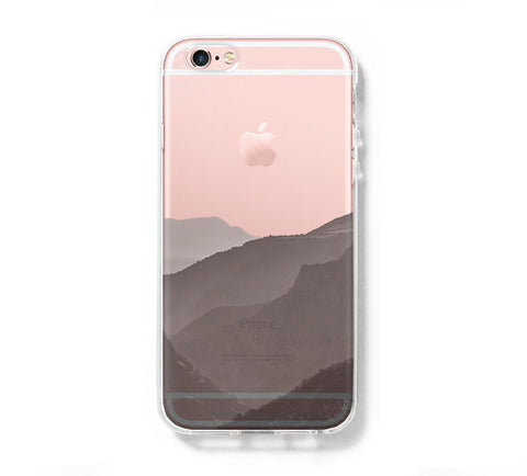 Foggy Mountains iPhone 6s 6 Clear Case iPhone 6 plus Cover iPhone 5s 5 5c Transparent Case Galaxy S6 Edge S6 S5 Case - Acyc - 1