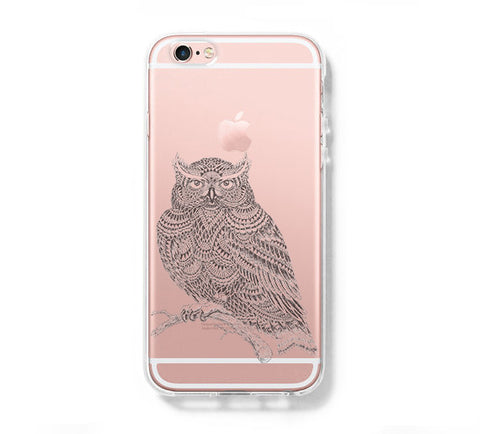 Cool OWL iPhone 6s 6 Clear Case iPhone 6 plus Cover iPhone 5s 5 5c Transparent Case Galaxy S6 Edge S6 S5 Case - Acyc - 1