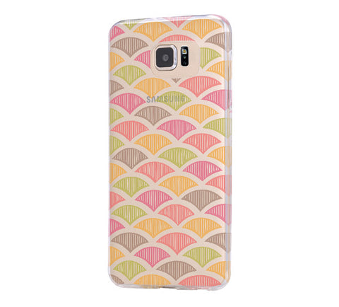 Chevron Print Color Samsung Galaxy S6 Edge Clear Case Galaxy S6 Transparnet Case S5 Hard Case iPhone Crystal  Case - Acyc - 1