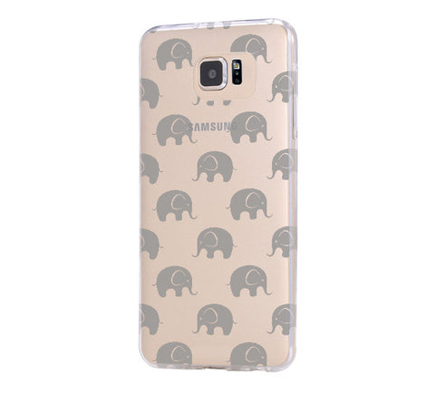 Elephant Design Samsung Galaxy S6 Edge Clear Case Galaxy S6 Transparnet Case S5 Hard Case iPhone Crystal  Case - Acyc - 1
