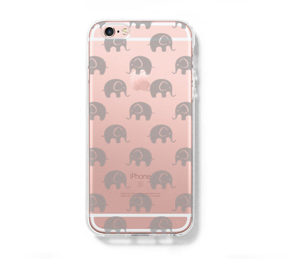 cute little elephant iphone 6s 6 clear case iphone 6 plus cover iphone