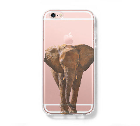 Elephant Face iPhone 6s 6 Clear Case iPhone 6 plus Cover iPhone 5s 5 5c Transparent Case Galaxy S6 Edge S6 S5 Case - Acyc - 1