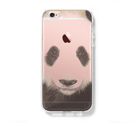 Panda Face Animal iPhone 6s 6 Clear Case iPhone 6 plus Cover iPhone 5s 5 5c Transparent Case Galaxy S6 Edge S6 S5 Case - Acyc - 1