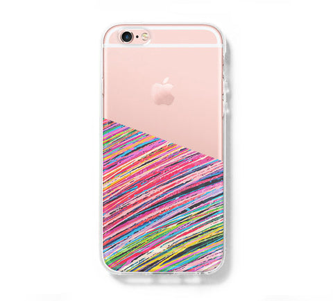 Color Stripes Geometric iPhone 6s 6 Clear Case iPhone 6 plus Cover iPhone 5s 5 5c Transparent Case Galaxy S6 Edge S6 S5 Case - Acyc - 1
