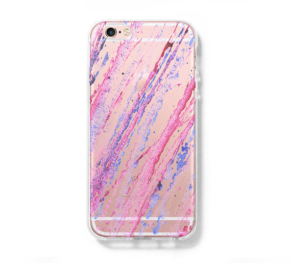 best website 7e4eb 36ded Abstract Pastel Watercolor iPhone 6s 6 Clear Case iPhone 6 plus Cover  iPhone 5s 5 5c Transparent Case Galaxy S6 Edge S6 S5 Case