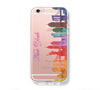 Watercolor New York Skyline iPhone 6s 6 Clear Case iPhone 6 plus Cover iPhone 5s 5 5c Transparent Case Galaxy S6 Edge S6 S5 Case - Acyc - 1