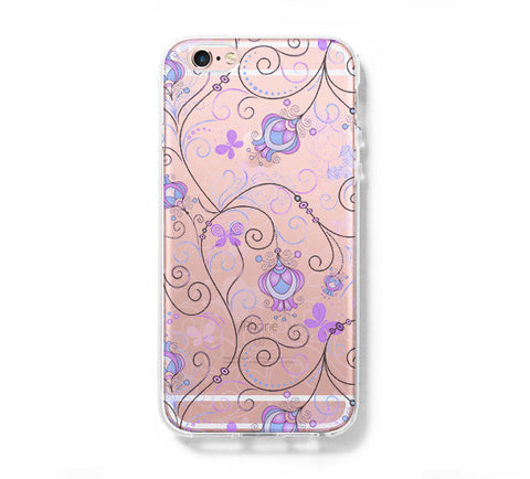 Floral Print Tribal iPhone 6s 6 Clear Case iPhone 6 plus Cover iPhone 5s 5 5c Transparent Case Galaxy S6 Edge S6 S5 Case - Acyc - 1