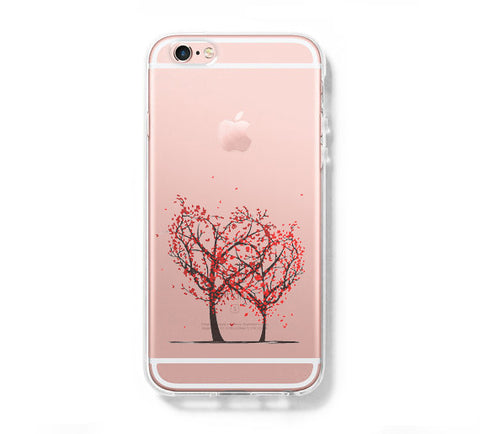Love Tree iPhone 6s 6 Clear Case iPhone 6 plus Cover iPhone 5s 5 5c Transparent Case Galaxy S6 Edge S6 S5 Case - Acyc - 1