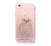 OWL Sketch iPhone 6s 6 Clear Case iPhone 6 plus Cover iPhone 5s 5 5c Transparent Case Galaxy S6 Edge S6 S5 Case - Acyc - 1