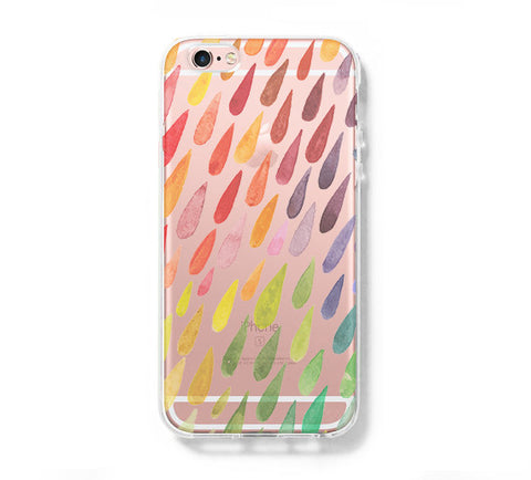 Watercolor Rain Drop iPhone 6s 6 Clear Case iPhone 6 plus Cover iPhone 5s 5 5c Transparent Case Galaxy S6 Edge S6 S5 Case - Acyc - 1