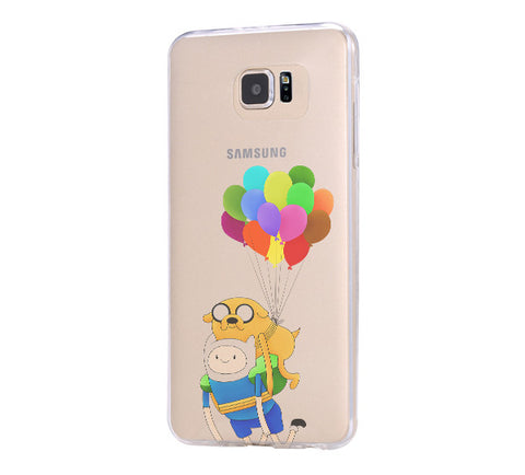 Adventure Time Finn Samsung Galaxy S6 Edge Clear Case Galaxy S6 Transparnet Case S5 Hard Case iPhone Crystal  Case - Acyc - 1