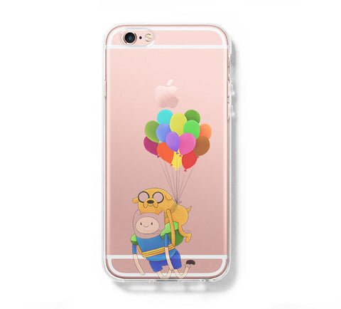 Adventure Time Finn Balloon iPhone 6s 6 Clear Case iPhone 6 plus Cover iPhone 5s 5 5c Transparent Case Galaxy S6 Edge S6 S5 Case - Acyc - 1