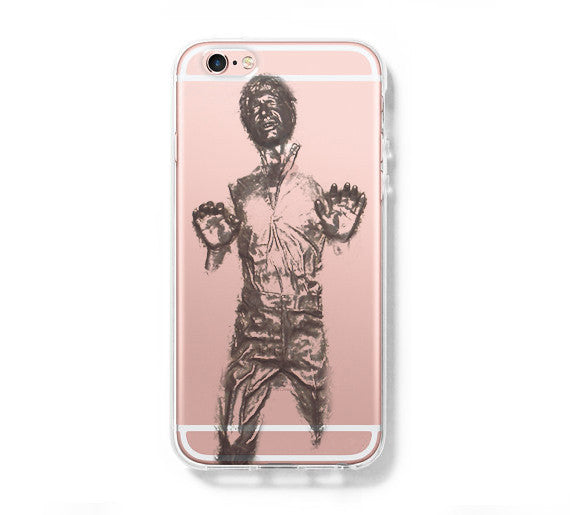 wholesale dealer 0cd73 6a2c9 Star War Han Solo iPhone 6s 6 Clear Case iPhone 6 plus Cover iPhone 5s 5 5c  Transparent Case Galaxy S6 Edge S6 S5 Case
