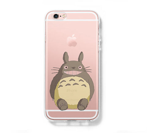 My Neighbor Totoro iPhone 6s 6 Clear Case iPhone 6 plus Cover iPhone 5s 5 5c Transparent Case Galaxy S6 Edge S6 S5 Case - Acyc - 1