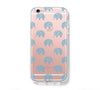 Adorable Elephats iPhone 6s 6 Clear Case iPhone 6 plus Cover iPhone 5s 5 5c Transparent Case Galaxy S6 Edge S6 S5 Case - Acyc - 1