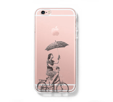 Umbrella Girl iPhone 6s 6 Clear Case iPhone 6 plus Cover iPhone 5s 5 5c Transparent Case Galaxy S6 Edge S6 S5 Case - Acyc - 1