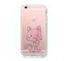 Pink Kitty Cat iPhone 6s 6 Clear Case iPhone 6 plus Cover iPhone 5s 5 5c Transparent Case Galaxy S6 Edge S6 S5 Case - Acyc - 1